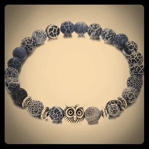 Textured Blue Lava Stone Bracelet!